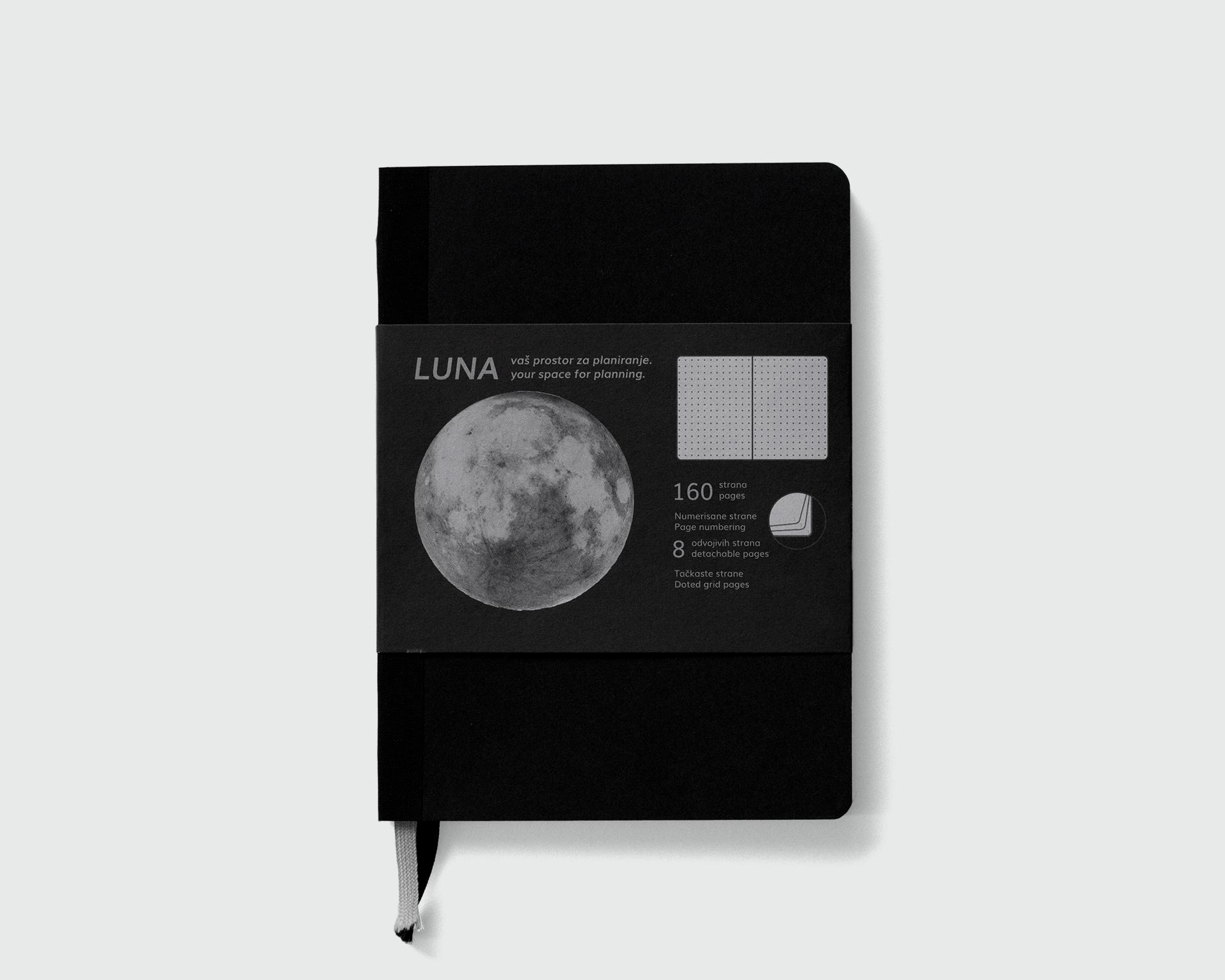 Luna sa crnim platnom
