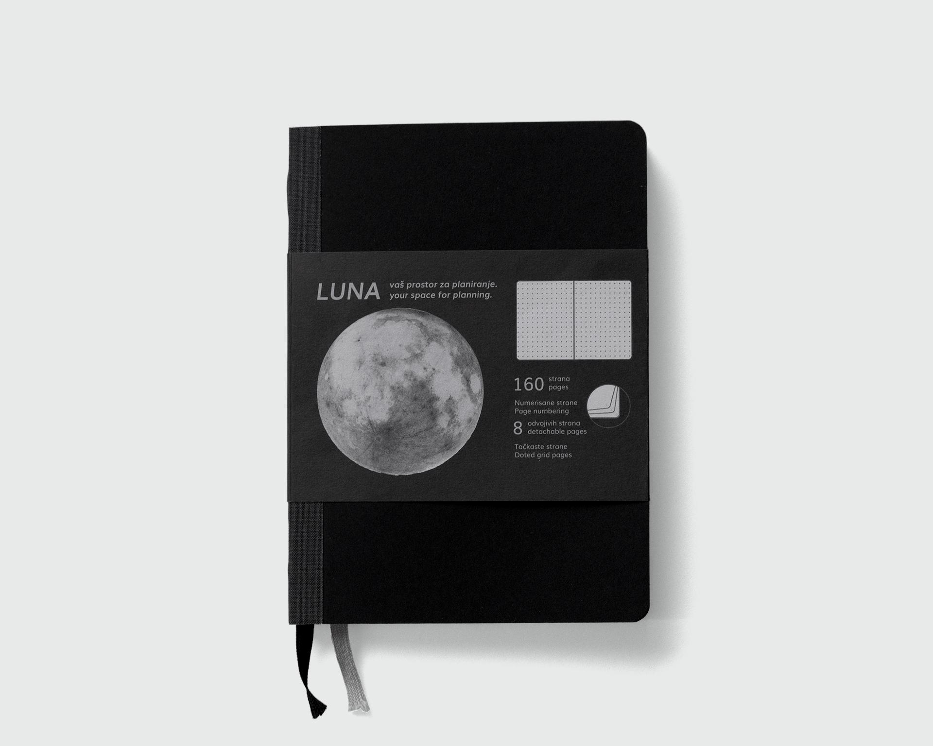 Luna sa sivim platnom