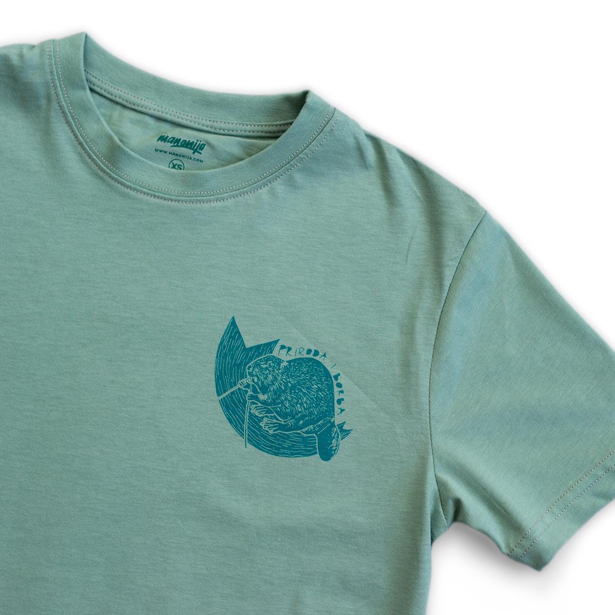 Dabar unisex majica organski pamuk