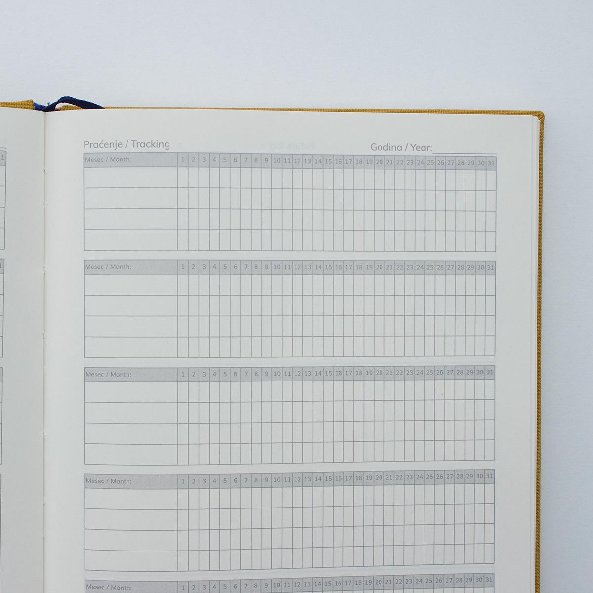 Juno planer tabela za praćenje navika